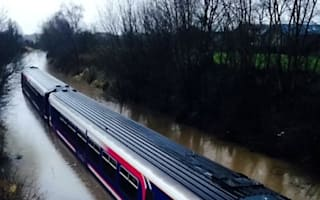Passengers rescued as train drives into freak flood in Glasgow