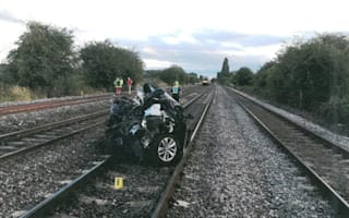 Man jailed after train hits empty car left on tracks