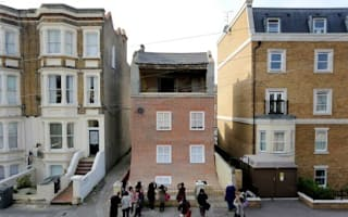 Is this house really sliding into the street?