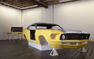 Man builds life-sized Mustang...from paper