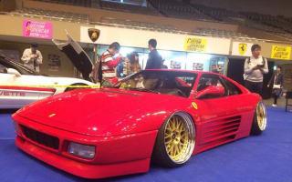 A Japanese tuner has slammed a Ferrari 348ts