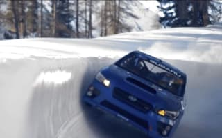 Stunt driver takes on bobsleigh run in Subaru WRX