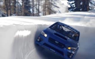 Stunt driver takes on bobsleigh run in Subaru WRX