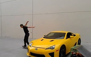 Video: Tony Hawk, a skateboard, a Lexus LFA and a ramp...what happens?
