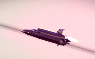 Bristol's supersonic car shows 1,100mph potential