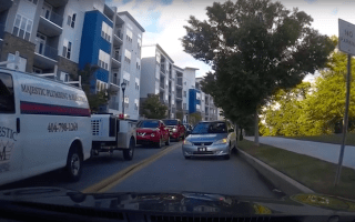 Motorist forced into the ultimate 'reverse of shame'