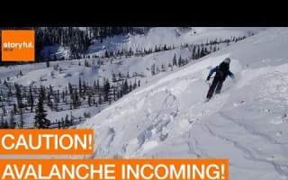 Skiers trigger mini avalanche