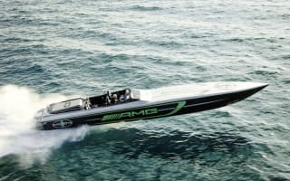 Mercedes-Benz team up with Cigarette Racing to launch AMG GT R inspired boat