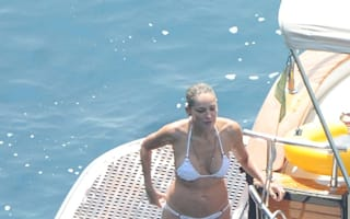 Ciao bella! Sharon Stone, 55, strips down to white bikini in Italy