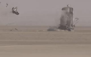 Horrific 200mph land speed crash caught on film