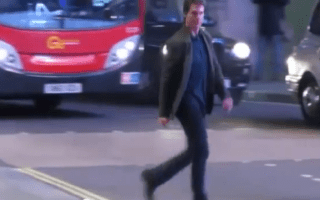 Tom Cruise almost hit by London bus (pictures)