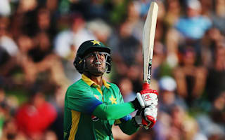 Pakistan's Shehzad taken off in ambulance after collision