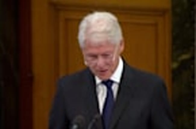 Bill Clinton speaks at funeral for Sinn Fein's Martin McGuinness