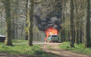 Family's car bursts into flames in lion enclosure at Longleat Safari Park