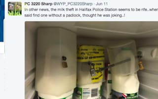 Police take extreme measures to stop milk thief at their station
