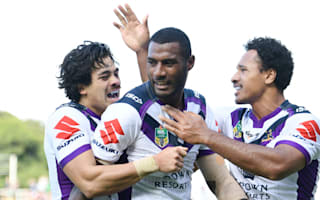 Melbourne weather Manly storm, Dragons hold off Cowboys to stay top