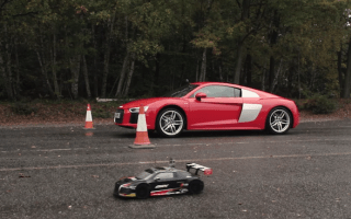 This Audi R8 R/C car is just as fast as the real thing