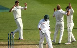 New Zealand strike late against Bangladesh