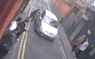 This is the shocking moment a carjacking victim is run over by his own car