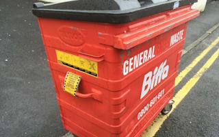 Overzealous parking attendant tickets wheelie bin