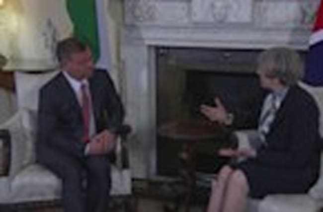 PM Theresa May welcomes King of Jordan