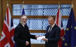 Office handover and handshake sets in motion UK's departure from European Union