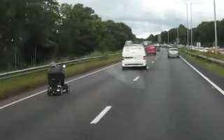 Pensioner causes traffic mayhem driving scooter on dual carriageway