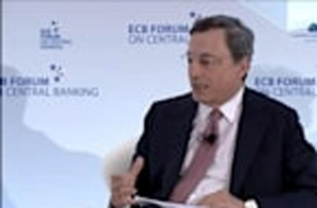 Markets in swirl over Draghi, Carney comments