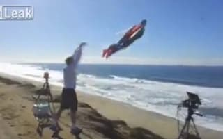 Video: Is that Superman flying over the Pacific Coast Highway? Yep...