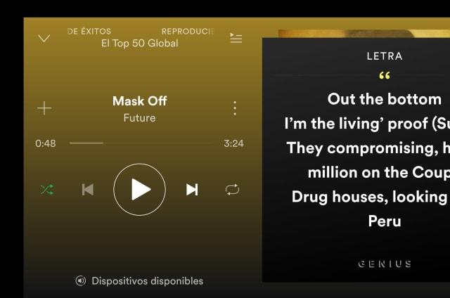 Spotify para Android ya ofrece letras y curiosidades de la canción que escuchas