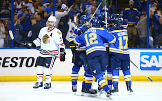 Blues oust Stanley Cup holders Blackhawks from play-offs, Predators force decider