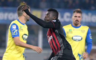 Chievo 1 AC Milan 3: Kucka and Niang help Rossoneri up to third