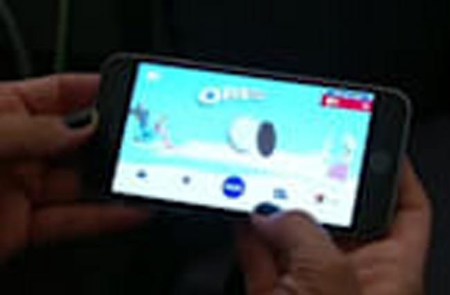 Selling Oreos through apps and videos