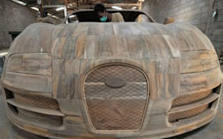 ​Bugatti Veyron Super Sport made out of teak