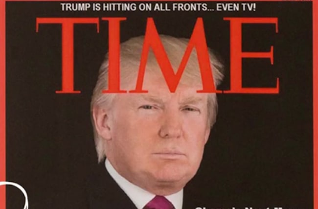Trump hangs fake Time magazine covers at his golf clubs