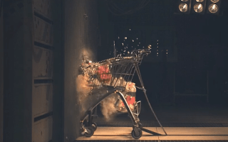 This is what crashing a shopping trolley at 75mph looks like