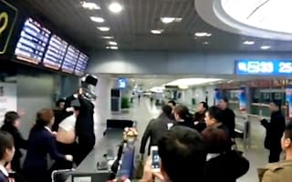 Video: Passengers brawl with airline staff over delayed flight