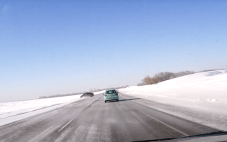Terrifying footage demonstrates the perils of winter driving