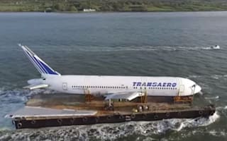 Is it a plane or a boat? Boeing 767 sets sail to Ireland