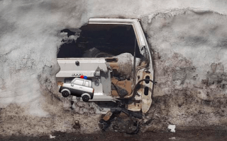 Abandoned Jeep Cherokee found under 20ft of snow