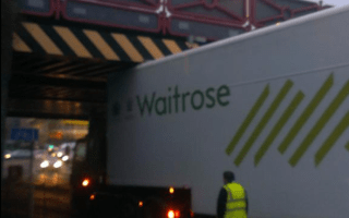 Lorry driver puts the 'wait' in Waitrose