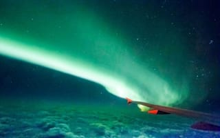 Amazing Northern Lights picture taken from plane window