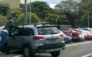 Video: Road rage, South American style