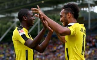 Aubameyang nets double in dramatic Dortmund win