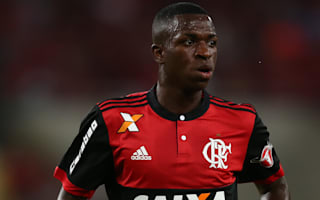 Real Madrid target Vinicius re-signs with Flamengo