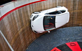 Video: Mazda2 drives around vertical 'wall of death'