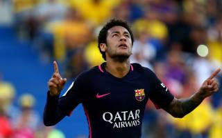 Las Palmas 1 Barcelona 4: Neymar hat-trick keeps pressure on Madrid