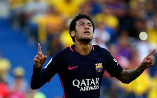 Las Palmas 1 Barcelona 4: Neymar hat-trick keeps pressure on Madrid