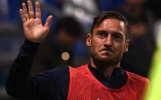 Roma star Totti back in training