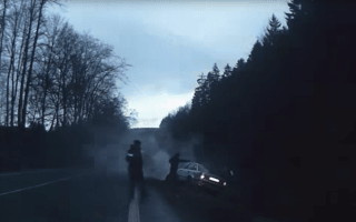 Dramatic police chase ends after stolen car crashes into ditch